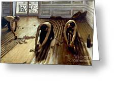 Caillebotte: Planers, 1875 Greeting Card