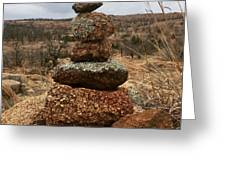 Cairn On The Mountain Greeting Card