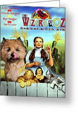 Cairn Terrier Art Canvas Print - The Wizard Of Oz Movie Poster Greeting Card