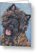 Cairn Terrier Brindle Greeting Card by Lee Ann Shepard
