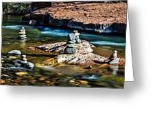 Cairns In The Creek Greeting Card