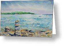 Cairns On The Beach Greeting Card