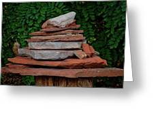 Cairns Rock Trail Marker Bluff Utah 01 Greeting Card