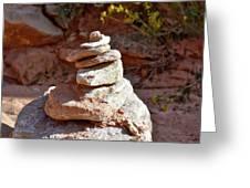 Cairns Rock Trail Marker Colorado Plateau Kanab Utah 01 Greeting Card