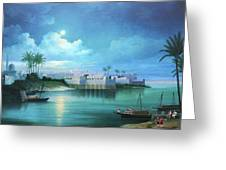 Cairo Under The Moonligh  Greeting Card