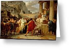 Caius Furius Cressinus Accused Of Sorcery Greeting Card