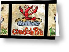 Cajun Food Trio Greeting Card