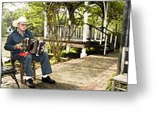 Cajun Man With Accordion Greeting Card