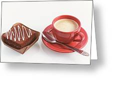 Cake And Cup Of Coffee Greeting Card