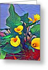 Cala Lily Caliente Greeting Card