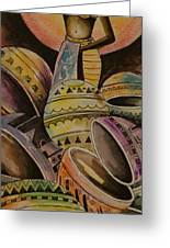 Calabash Woman Greeting Card
