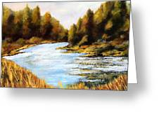 Calapooia River Greeting Card