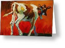 Calf Baby Greeting Card