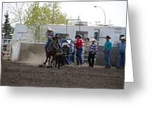 Calf Roping Greeting Card