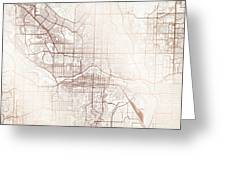 Calgary Street Map Colorful Copper Modern Minimalist Greeting Card
