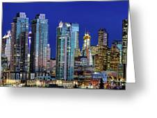 Calgary's Blue Hour Greeting Card by David Buhler