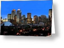 Calgarys Skyline Greeting Card