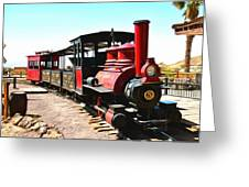Calico And Odessa Rail Road Greeting Card