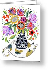 Calico Bouquet Greeting Card