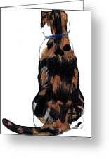Calico Cat-attude Greeting Card