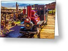Calico Ghost Town Train Greeting Card