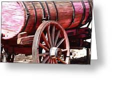 Calico Ghost Town Water Wagon Greeting Card