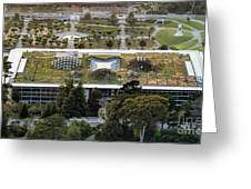 California Academy Of Sciences Living Roof In San Francisco Greeting Card