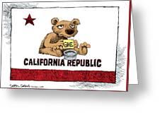 California Budget Begging Greeting Card