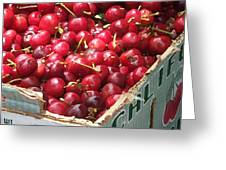 California Cherries Greeting Card