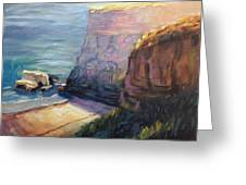 California Cliffs Greeting Card