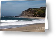 California Coast - Blue Greeting Card