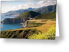 California Coast -  A View Of Bixby Ap Greeting Card