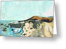 California Coast Collage Greeting Card