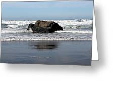 California Coast Ocean Waves 2 Greeting Card