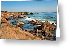 California Coast Rocky Cliffs Greeting Card
