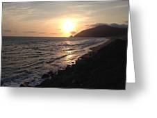 California Coast Sunset At Dunes Greeting Card