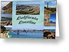 California Collage Greeting Card