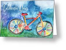 California Days - Art By Linda Woods Greeting Card
