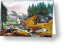 California: Gold Mining Greeting Card