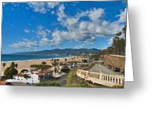 California Incline Palisades Park Ca Greeting Card