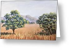California Landscape. Fall Greeting Card