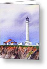 California Lighthouse Point Arena Greeting Card