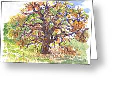 California Oak In Winter Greeting Card
