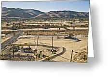 California Oil Field 14pdxl084 Greeting Card