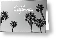 California Palm Trees By Linda Woods Greeting Card