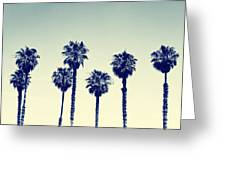 California Palm Trees Greeting Card