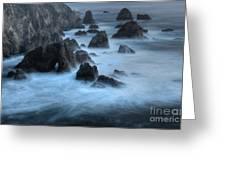 California Rocky Coastline Greeting Card