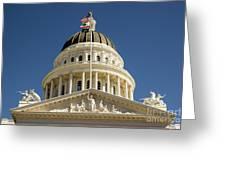 California State Capitol Cupola Greeting Card