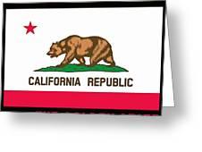 California State Flag Greeting Card