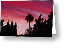 California Sunset Painting 1 Greeting Card